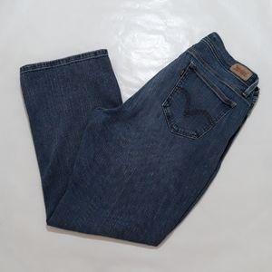 Levi's Strauss 529 Blue Jeans Sz 14 Boot Cut Curvy